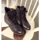 Women's Brown Leather Low Heel Ankle Boots