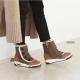 Air Cushion Sole wedge Heel Fur Button Boots