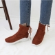 Back Lace Up Inner Fur Ankle Boots