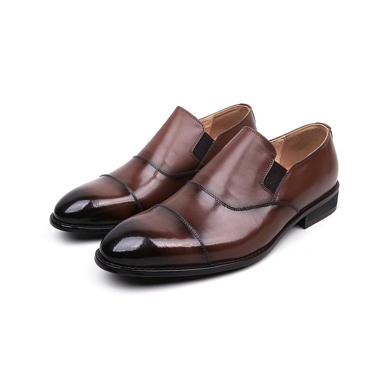 Brown Cap Toe Dress Shoes Wedding