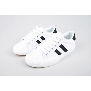 black line canvas sneakers