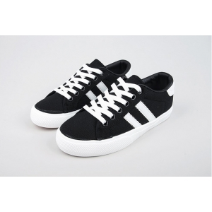 white line canvas sneakers