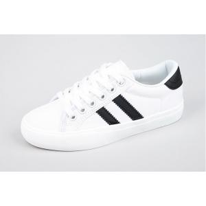 black line canvas sneakers