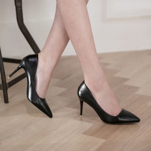 Pointed Toe Black Stiletto High Heel Pumps Shoes
