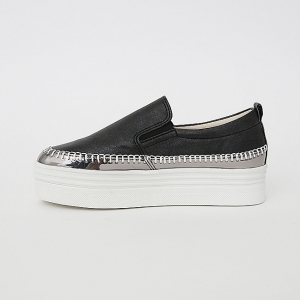 Women's Thick Platform Slip On Loafer Sneakers