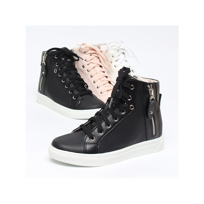 Women S Increase Height Hidden Wedge Insole High Top Shoes