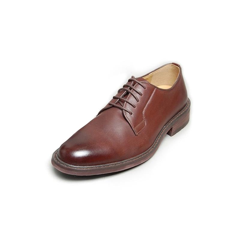 Dark Brown Low Heel Dress Shoes