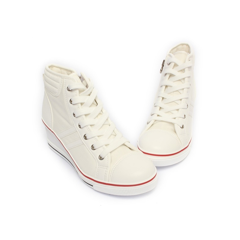 High Top Sneakers With Toe Cap
