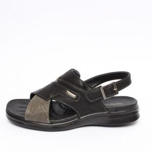 809ece2e692 Men s Open Toe Two Tone Black Sandals Shoes Open Toe