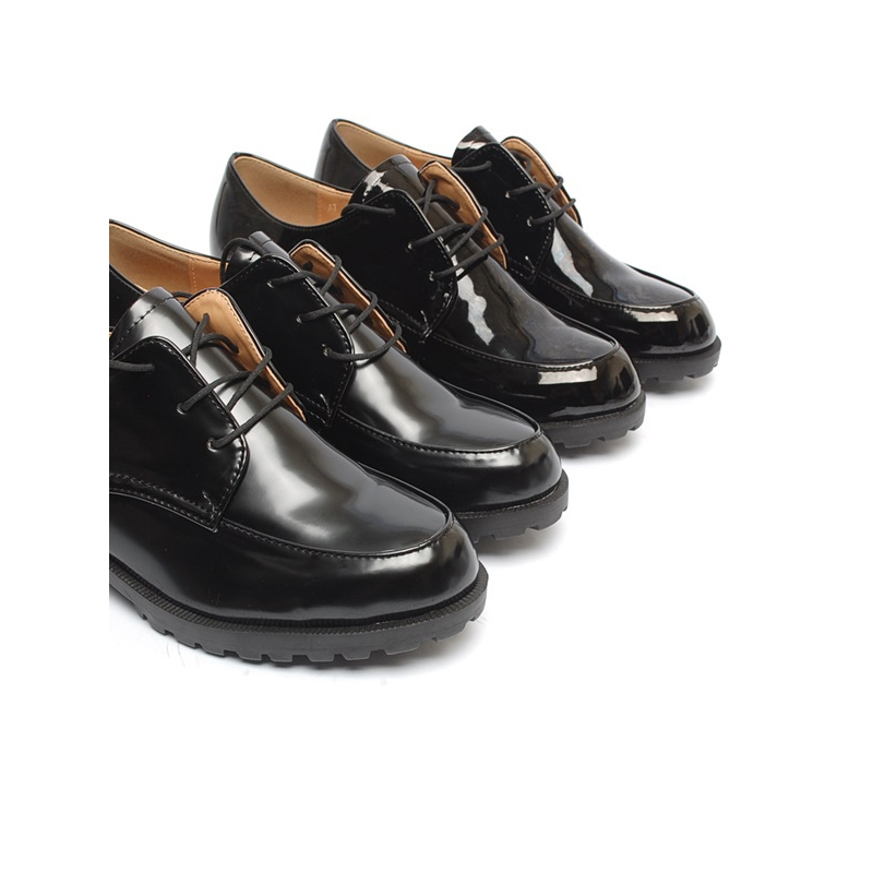 2e216036f5 Women's Apron Toe Platform Low Heel Oxfords Shoes