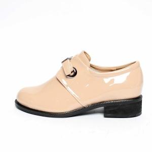 fdaa4220b5bb8 Women's Belt Strap Platform Low Block Heel Loafers Pink Shoes