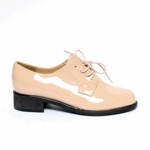 20ab0e09d8cfbf ... Women's Lace Up Platform Low Block Heel Oxfords Pink Shoes Round Toe,