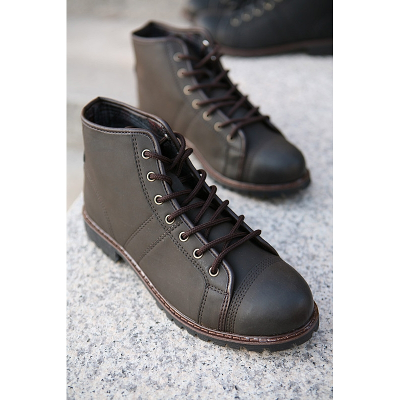 Well-liked Mens New Vintage Lace Up stitch military fashion Boots AB17