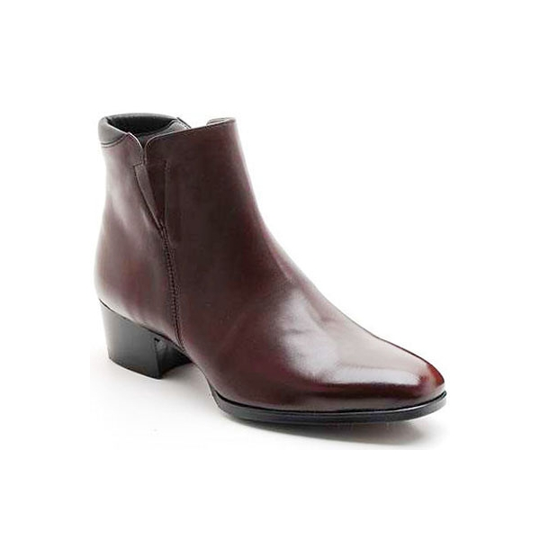 bbef995c1d58 Mens brown real Leather side zipper Ankle boots made in KOREA US5.5-10.5 ...