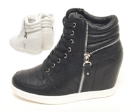 high top hidden wedge sneakers